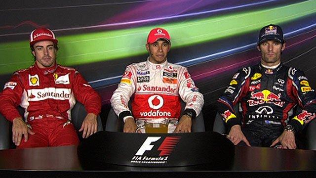 Fernando Alonso, Lewis Hamilton & Mark Webber