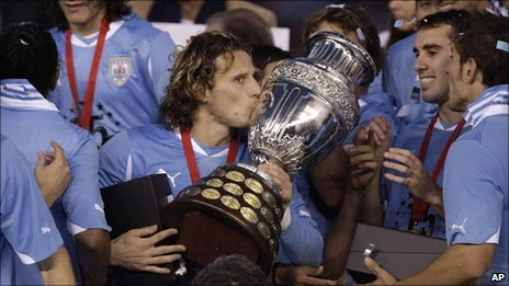 Diego Forlan scored twice in the final
