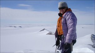 Rebecca Rixon in Antarctica