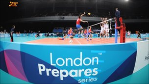 Test event for London 2012 in Earls Court