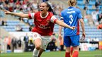 Julie Fleeting of Arsenal Ladies celebrates a goal
