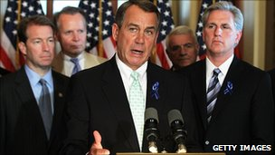 Speaker John Boehner and Republican colleagues, 25 July