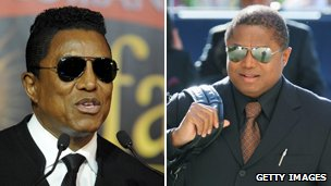 Jermaine and Randy Jackson. Pics: AFP/Getty