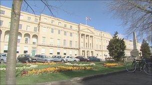 Cheltenham Borough Council's head office in Cheltenham
