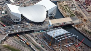 The aquatic centre and water polo venues taking shape