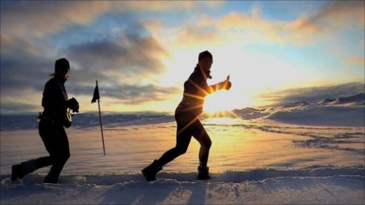 Competitors in the Polar Circle Marathon