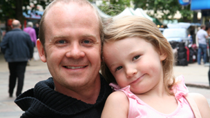 Rob Shanks and his daughter