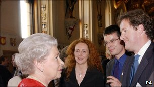 Piers Morgan (far right) with the Queen and Rebekah Brooks at Windsor Castle in 2002