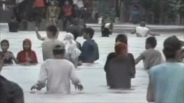 Flooding in Albay province