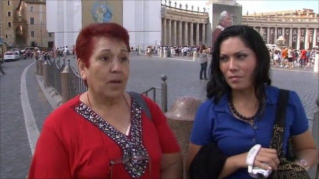 Vatican tourists