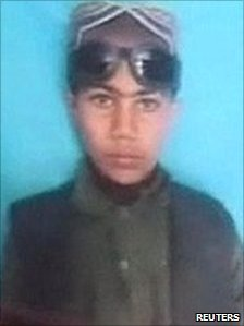 Snapshot of Ibrahim, whose strangled body was found near Gereshk in Helmand Province