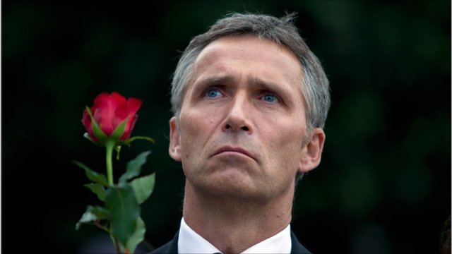 Norwegian prime minister Jens Stoltenberg