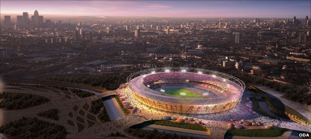 Artist&#039;s impression of London&#039;s Olympic stadium