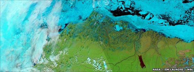 Modis image of Alaska