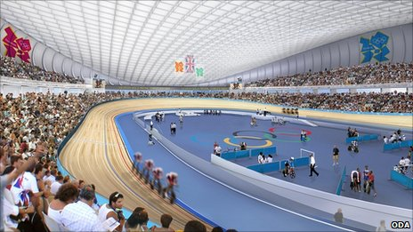 Artist's impression of London's Velodrome (ODA)