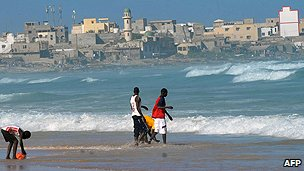 Beach scene in Dakar
