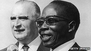 Senegal's former president Senghor