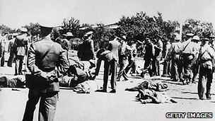Aftermath of Sharpeville shootings