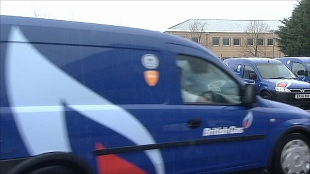 British Gas van