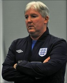 Tony Larkin, head coach of the England/GB blind football team