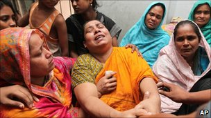 Relatives of six students killed by a mob in July 2011