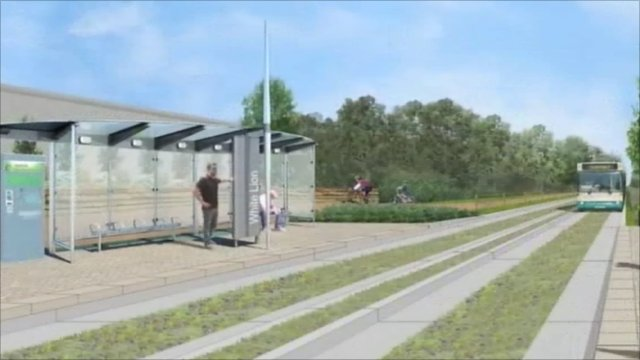 Guided busway artist's impression