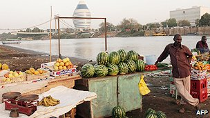 Fruit sellers in Khartoum