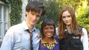 Matt Smith, Karen Gillan and Leah