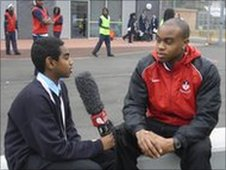 A School Reporter from Hackney Free and Parochial School interviews  teacher Daniel Davies , who wants to compete at the Games.