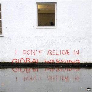 Banksy art on global warming
