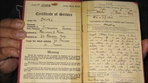 Service record of retired Gurkha Jit Bahadur Sunuwar