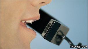Speaker on the phone (Credit: THINKSTOCK)