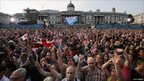 Crowds in Trafalgar Square
