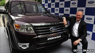 Ford India President Michael Boneham with the new Ford Endeavour