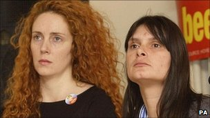 Sara Payne, right, with Rebekah Brooks