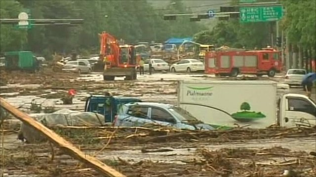 Seoul floods aftermath