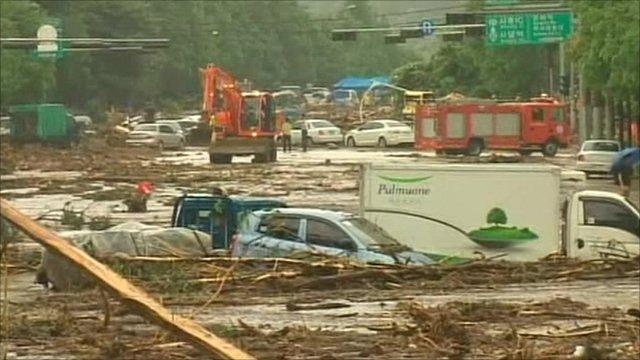 Seoul floods aftermath