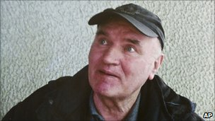 Ratko Mladic, soon after his arrest