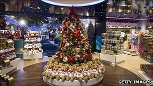 The Christmas shop at Harrods in Knightsbridge, London
