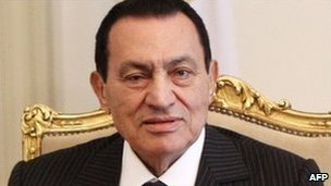 Egyptian President Hosni Mubarak, file pic