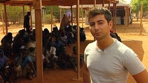 Ricky at Dadaab refugee camp in Kenya