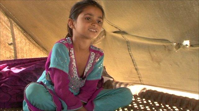 Firdaus is still living in a flood relief camp near Karachi