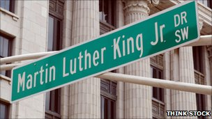 Martin Luther King street sign