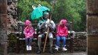 Rain on knight