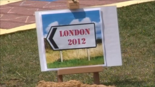 London 2012 sign
