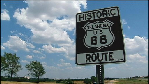 Route 66 road sign USA