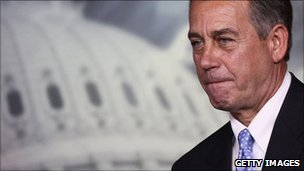 Speaker of the House John Boehner attends a news conference on the debt limit impasse at the US Capitol July 28, 2011