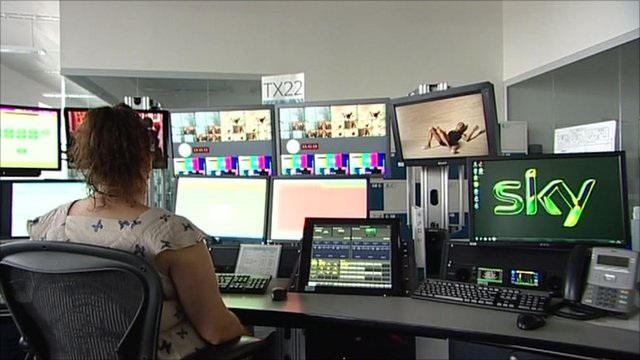Woman working in BSkyB editing suite
