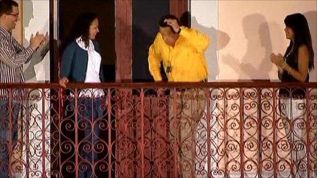 President Chavez dancing