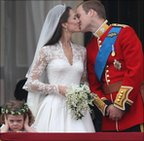 William and Catherine kiss on the balcony